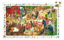 Djeco Megfigyeltető puzzle - Lovaglás 200 db-os - Horse riding