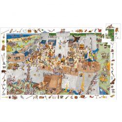 Djeco Megfigyeltető puzzle - Bevehetetlen vár 100 db-os - Fortified castle