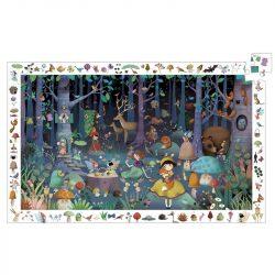 Djeco Megfigyeltető puzzle - Elvarázsolt erdő, 100 db-os - Enchanted Forest
