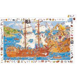 Djeco Megfigyeltető puzzle - Kalózok, 100 db-os - Pirates