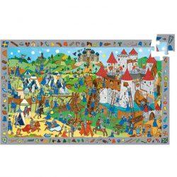 Djeco Megfigyeltető puzzle - Lovagok, 54 db-os - Knights
