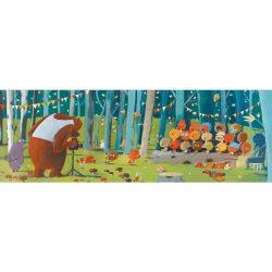 Djeco Művész puzzle - Erdei barátok, 100 db-os - Forest friends
