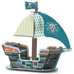 Djeco Pirate boat 3D - Építőjáték - Kalózhajó