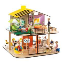 Djeco Színes babaház - Colour house ,7803,fa babaház berendezes nélkül
