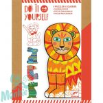 Djeco Animocolour - Állati puzzle színezés