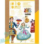 Djeco Cinderella -Pálcikás bábfigurák- Csipkerózsika - Kreatív készlet