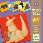 Djeco Memo colour animals - Színes állatok memóriajáték