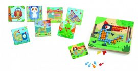Djeco - Pötyi mozaik - Vadállatok - Mosaico Rigolo - 4-7 év közötti gyerekeknek