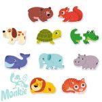 Djeco párosító puzzle - Állatok