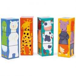 Djeco Kockakiarkó - Vidám állatos építő - Colour animals