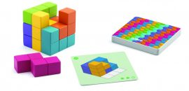Djeco Logikai játék - Kockakirakó - Cubissimo