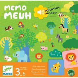 Djeco Társasjáték - Hangos - képes bujócska - Memo Meuh