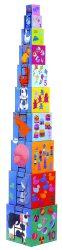 Djeco Toronyépítő kocka - Mulatságos építő - 10 funny blocks