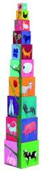 Djeco Toronyépítő kocka - Természet és állatok - 10 nature and animal blocks