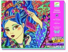 Djeco Művészeti műhely - Japán motívumok  - Cherry tree girls