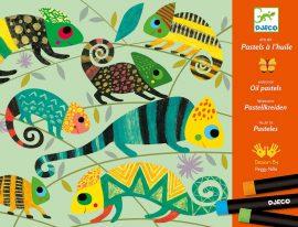 Djeco Művészeti műhely, olajpasztell - Színes dzsungel - Coloured jungle