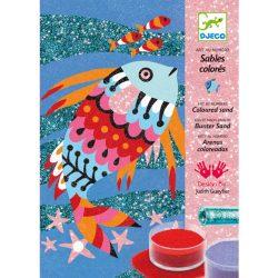 Djeco Homokkép készítő - Szivárványos halak - Fish rainbows