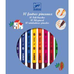 Djeco Ecsetfilc készlet - 10 klasszikus szín - Classic colors