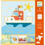 Djeco Tranports & co - Rajzsablonok- Járművek - Kreatív rajzkészlet