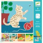 Djeco Cute companions - Rajzsablonok - Aranyos állatok