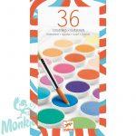 Djeco Korongos gouache festék - 36 szín