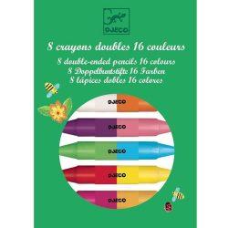 Djeco 8 db dupla végű zsírkréta - 8 twins crayons