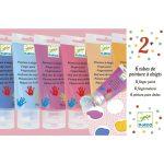 Djeco Ujjfesték - 6 szín tubusban - 6 finger paint's tubes - Sweet