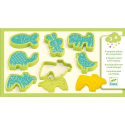 Djeco Gyurmaformázó készlet - 6 press moulds and 6 stamps pet animals