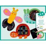 Djeco Scratch the funny animals - Karckép készítés- Vicces állatok
