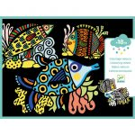 Djeco Bársony színező - Csinos halak - Pretty fishes