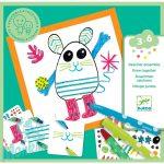 Djeco Funny animals - Rajztanító kreatív készlet - Vicces állatok