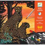 Djeco Backlight - Aquarell készlet - Dzsungel - Kreatív készlet