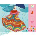 Djeco Mosaic kits - Party dresses - Parti ruhák mouaik készlet - Művészeti műhely - Kreatív készlet