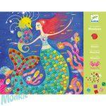Djeco Mosaic kits - The murmaids' song - Mozaikkészítő - A sellő dala - Kreatív készlet