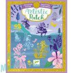 Djeco Artistic Patch Glitter - Fairyland - Tündérváros - Kollázskészítő - Kreatív készlet