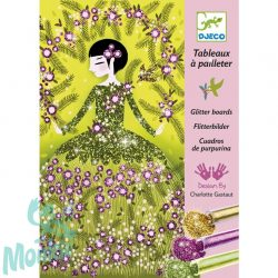 Djeco Csillámkép készítő - Csillogó ruhák - Glitter dresses