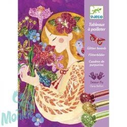 Djeco Csillámkép készítő - A virágok illata - The scent of flowers