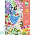 Djeco The gentle life of fairies - Tündérek - Csillámkép készítő - Kreatív készlet
