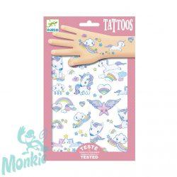 Djeco Tetováló matricák - Unikornisok - Unicorns
