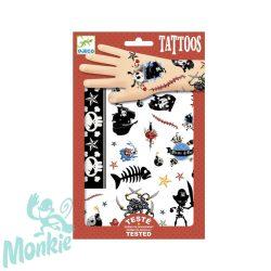 Djeco Tetováló matricák - Kalózok - Pirates