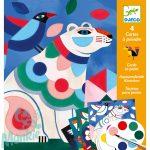 Djeco Fanciful bestiary - Színező készlet