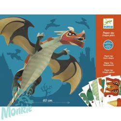 Djeco Síkból térbe formálás - Óriás sárkány - Giant dragon