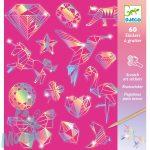Djeco Diamond - Karckép technika matricákkal - Gyémánt