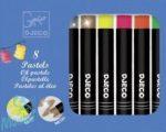 Djeco Neon és metál 8 darabos olaj pasztel készlet