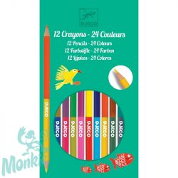 Djeco Színes ceruza készlet - 24 szín - 12 double ended pencils, 24 colours