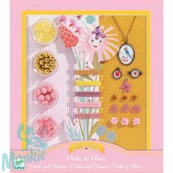 Djeco Ékszerkészító készlet - Gyöngyök és virágok - Pearls and flowers