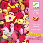Djeco Fa gyöngyök madárkákkal - Wooden beads, bird
