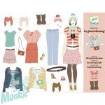 Djeco Papírbaba öltöztető - Hatalmas gardrób – One big dressing room