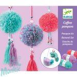 Djeco Pendant Pompoms - Pompon készítő kreatív készlet