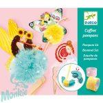 Djeco Fairy Pompoms - Tündérek - Pompon készítő kreatív készlet